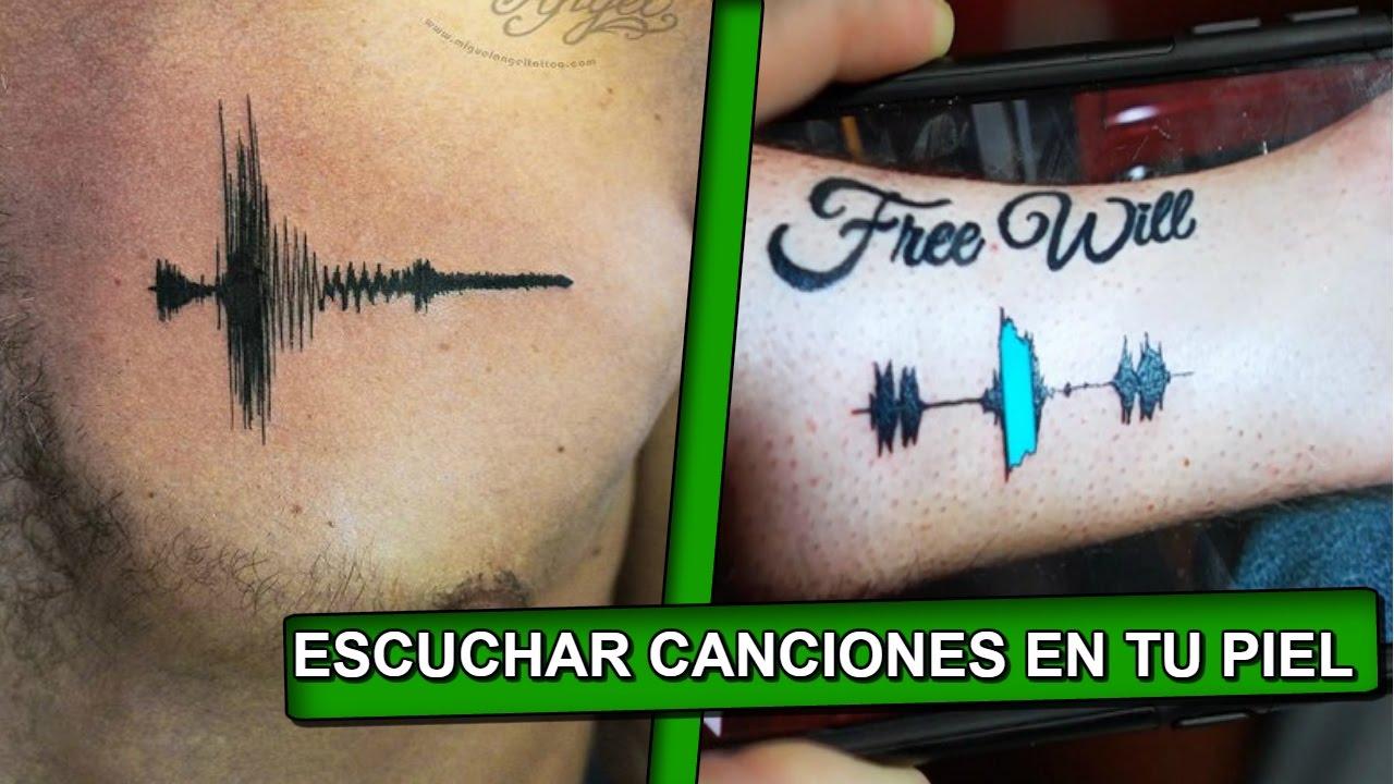 Soundwave tattos. Tatuajes con sonido…